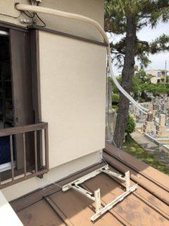 大阪府 エアコン工事(屋根置き)